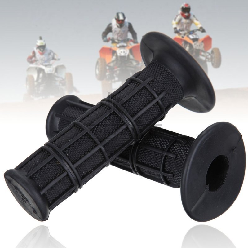 Universal Motorcycle Rubber Gel Handlebar Hand Grips for 7//8 Bar End Handle Bars Sports Bikes Black