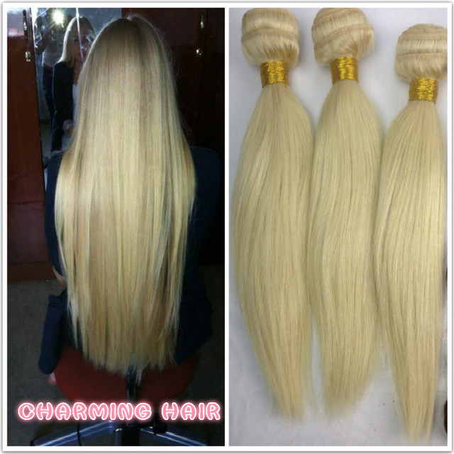 Best Quality Blonde European Hair Extension Weave Natural Straight