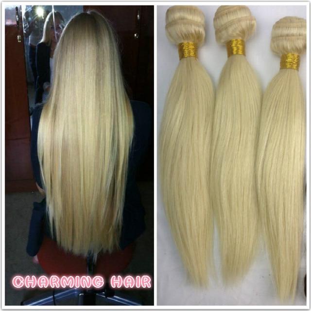 Best quality blonde european hair extension weave natural straight best quality blonde european hair extension weave natural straight virgin human hair weft 613 platinum pmusecretfo Images