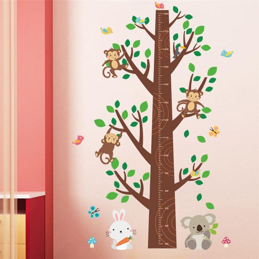 US $5.53 27% OFF|Dschungel Affen Baum Kinder Baby Kinderzimmer Wand  Aufkleber Wandbild Decor Aufkleber Abnehmbare Schablone wand designs 810-in  ...