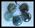 Natural Stone Pear Jewerly Labradorite Necklace Pendant beads,18*18*8mm,19.6g semiprecious stone pendant fine jewelry