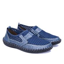Summer Breathable Mesh Men Shoes Casual Light Men Sneakers Tenis Masculino Leather Shoes Men Loafer Footwear Big Size 38-50 2016 new brand real genuine leather casual men s shoes matching summer flat men tenis masculino size 38 46 top quality shoes men
