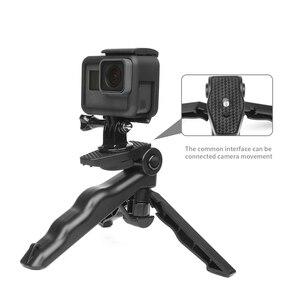 Image 3 - לירות מיני נייד חצובה Stand עבור GoPro גיבור 9 8 7 5 שחור 4 מושב Xiaomi יי 4K Sjcam eken Canon Nikon Sony DSLR אבזר