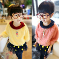 Free shipping spring/autumn fashion leisure leading edge girl wool sweater