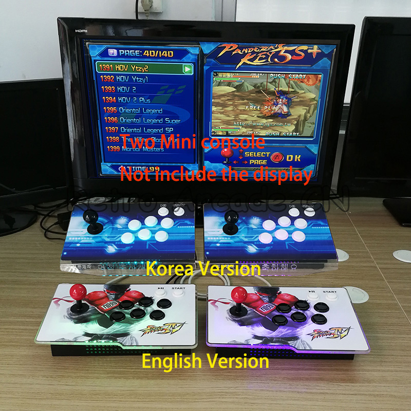 3D Game Pandora 7 2177 in 1 arcade mini LED console upgrade from 1399 in 1 for 2 players HDMI/VGA output to home TV