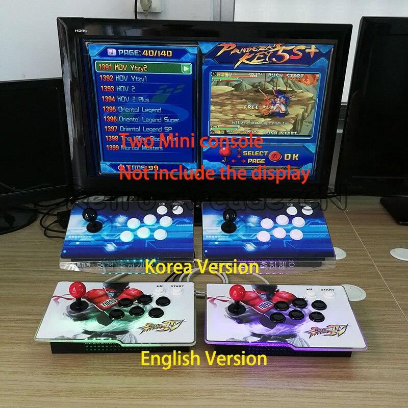 3D Jeu Pandora 7 2177 dans 1 arcade mini LED console mise à jour de 1399 dans 1 pour 2 joueurs HDMI /VGA sortie à la maison TV