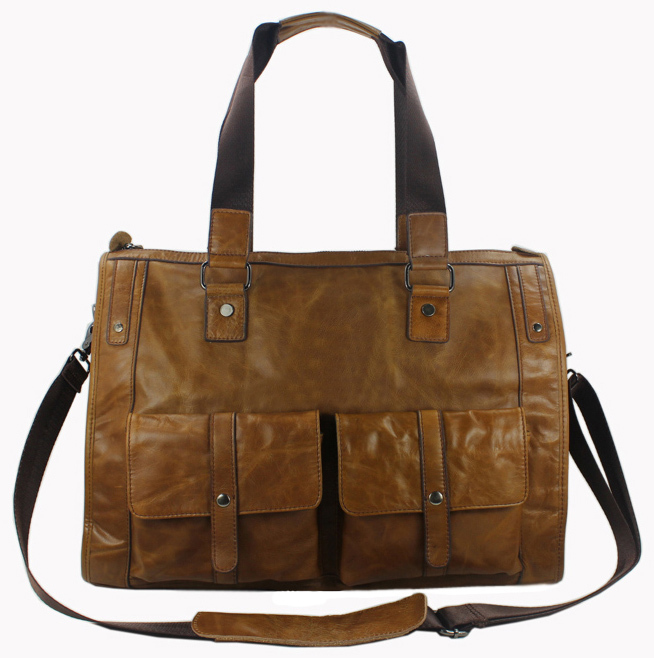 185b143cfa1 Fashion Genuine Leather Men s Travel Bag Duffle Bag Real Leather Luggage Bag  Of Trip overnight Tote Weekend Bag free shipping-in Travel Bags from Luggage  ...