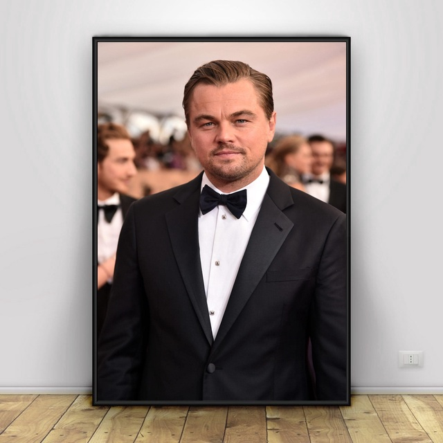 <font><b>Leonardo</b></font> <font><b>DiCaprio</b></font> Art Silk Fabric Poster And Print Wall Art Picture <font><b>Painting</b></font> Home Decor image