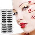 Alta Qualidade 10 Pares Preto Longo Grosso Falso Cílios Cílios Extensão para o Cuidado Dos Olhos Maquiagem Natural Mink Cílios Frete Grátis