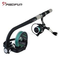 Piscifun portátil linha de pesca spooler fiação/baitcasing carretel linha enrolador máquina estação sistema