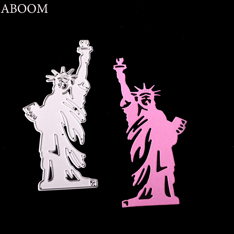 ABOOM New 1PC United Statue Of Liberty Die Cut Scrapbooking Decorative Craft Paper Cutting Dies Invitation Card Making Mold