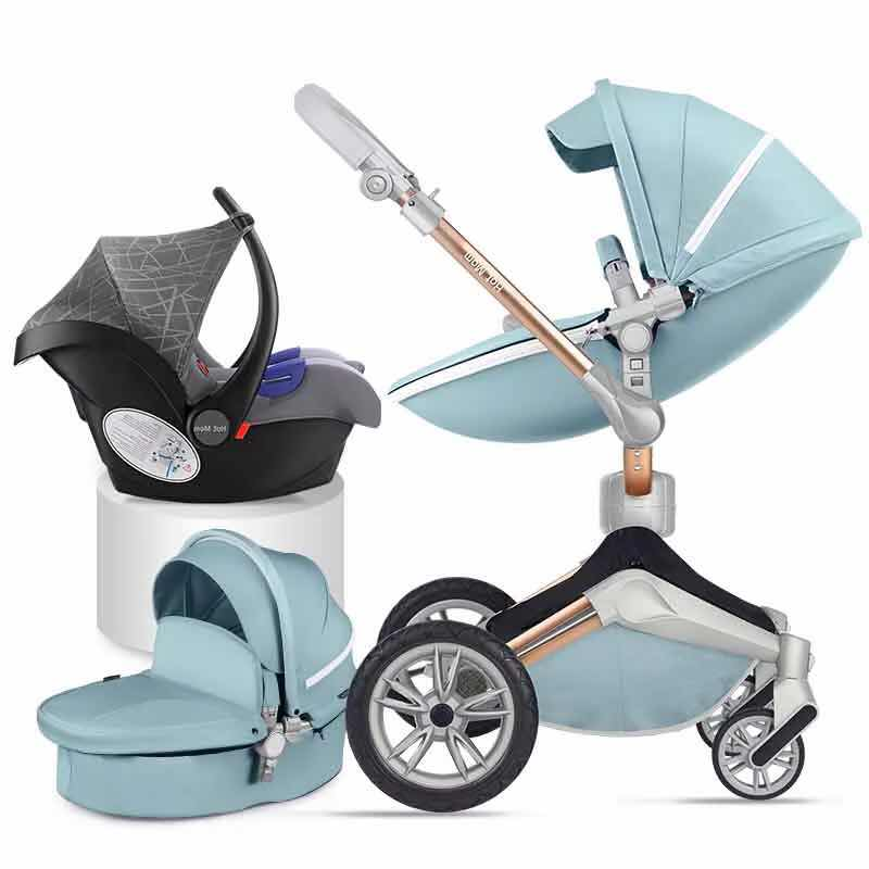 Hotmom baby stroller Eco-leather 3 in 1 light weight four shock absorbers Russia free shipping pinturicchio centenarian four wheel baby stroller baby newborn buggiest shock absorbers dual