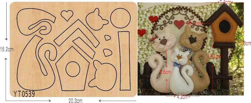 Cat house DIY new wooden mould cutting dies for scrapbooking Thickness 15 8mm YT0539