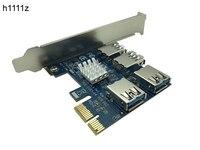 PCI E To PCI E Adapter 1 Turn 4 PCI Express Slot 1x To 16x USB