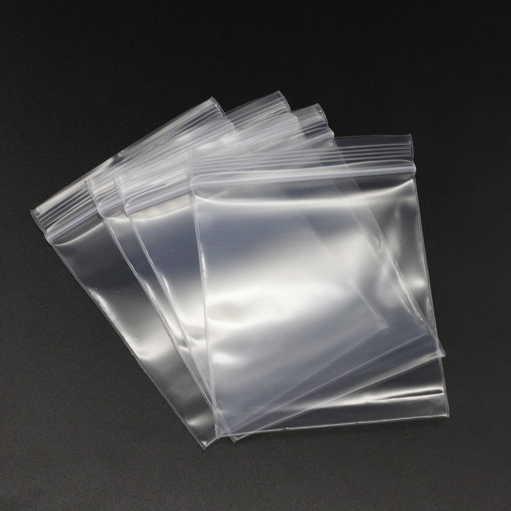 100pcs/pack 4*6/5*7/6*8/7*10cm Bulk Thick Jewelry Packaging Zip Zipped Lock Reclosable Plastic Poly Clear Bags For DIY Stockpile