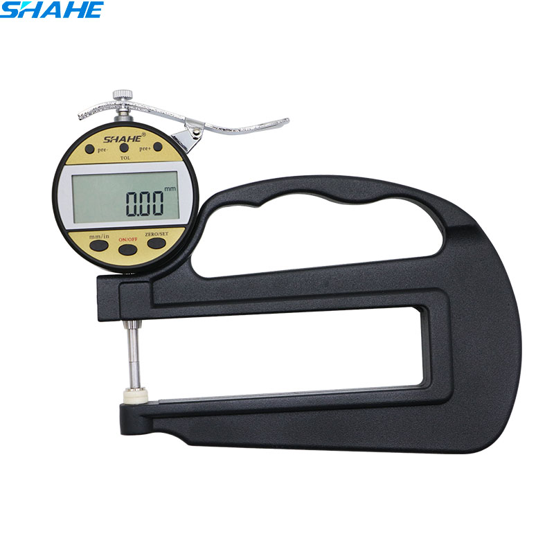 0.01mm High Quality Long Handle Digital display Electronic leather Thickness Gauge thickness meter leather thickness gauge dial display thickness gauge thickness gauge measuring tool for jewelry leather metal rubber fabric thickness free shipping
