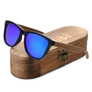 Image 5 - Ablibi Handmade Legno Occhiali Da Sole Polarizzati Uomini Delle Donne di Disegno di Marca di Guida di Legno A Specchio Shades in Scatola di Legno Grana