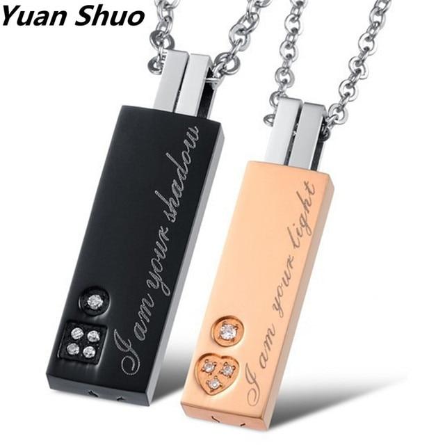 New couple jewelry korean creative rectangular pendants wholesale new couple jewelry korean creative rectangular pendants wholesale pure titanium steel necklace couple aloadofball Images