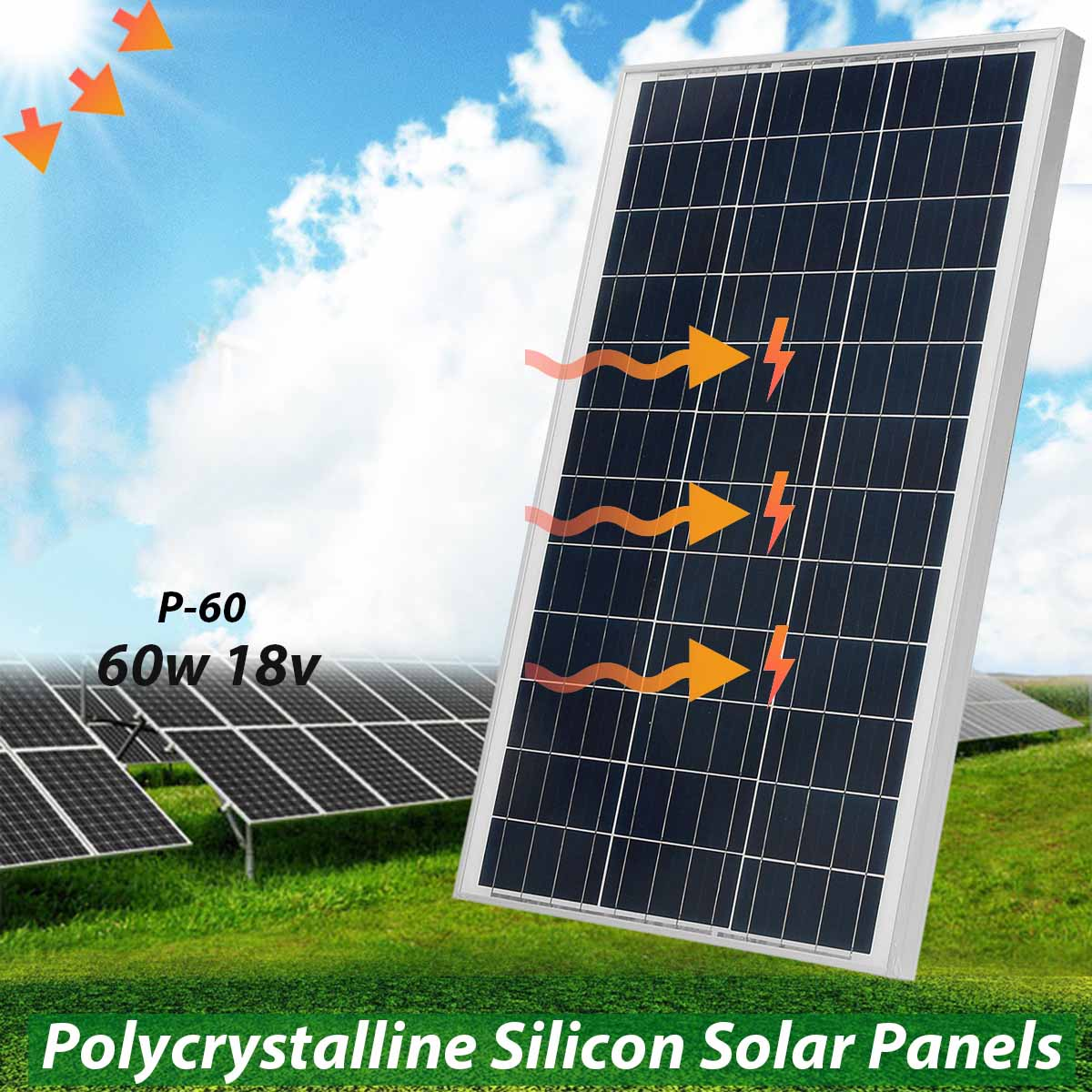 KINCO 75w 18v Polycrystalline Silicon Solar Panel With Glass Bearing Plate Suitable For Car Battery Used With Wind Generator