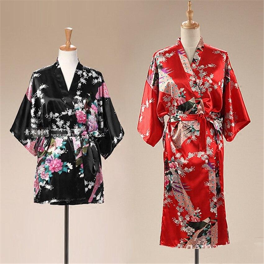 16Style Adult Loose Satin Pajamas Traditional Japanese Style Kimono For Women Kimono Thin Cardigan Clothing Yukata Dress