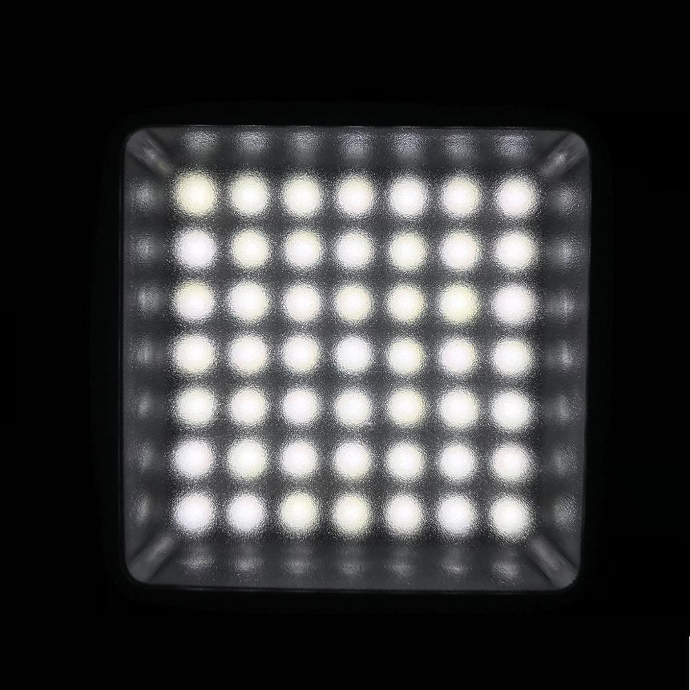 Bright LED Video Light 49 Beads Dimmable LED Video Panel Light for Ronin S Phone Gimbal Gopro 7 6 DSLR Camera Canon in Photographic Lighting from Consumer Electronics