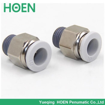 PC10 04 Pneumatic Air Fittings Male Straight Thread Union Push-in Fittin 10mm joint pipe 1/2 Thread Air Quick Conneactor PC10-04 фото