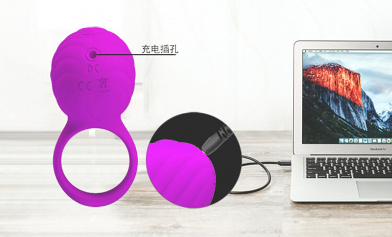 New USB Rechargeable Rotation Vibrating Cock Ring Sex Toys For Men 3 Mode Clit Stimulate Penis Rings for Couples Erotic Toys 7