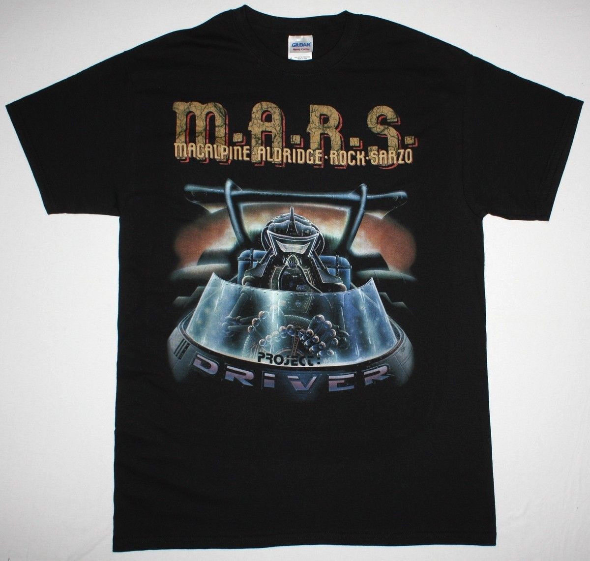 M.A.R.S. PROJECT DRIVER BLACK T SHIRT HEAVY METAL ROCK MACALPNE SARZO ALDRIDGE Summer Style Fashion Men T Shirts top tee