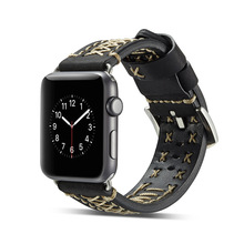 цена на KLFS Hot Sell Leather Watchband for Apple Watch Band Series 3/2/1 Sport Bracelet 42 mm 38 mm Strap For iwatch 4 Band