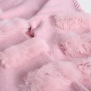 Image 3 - Twotwinstyle inverno pullovers de malha camisola feminina para as mulheres topo manga longa solta tamanho grande grosso quente camisolas jumper roupas