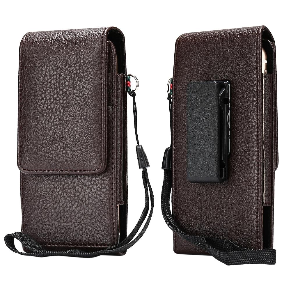 HAISSKY Leather Waist Bag Wallet Case Flip Covers For iPhone 6 6s 7 Plus Samsung Galaxy S8 Plus Xiaomi Mi5 mi6 Huawei P10 Plus