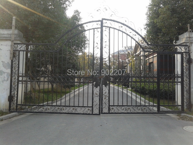 Iron Yard Gates 36 Wrought Iron Gate Automatic Residential Gates