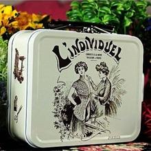 vintage tin box secret case rectangle storage boxes Mini Jewelry cases tin lunch box tin box cookies makeup D15