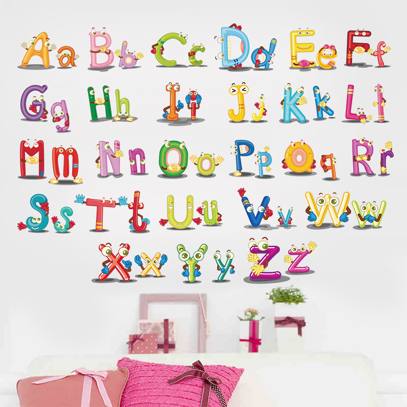 DSU Home Decor Decoration ABC English alphabet Wall Stickers Vinyl