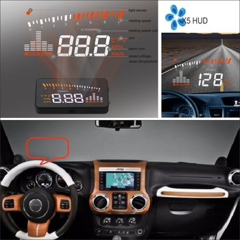 For Jeep Wrangler/Renegade 2011-2019 Car OBD HUD Warning Head Up Display Driving Screen Projector - Reflecting Windshield