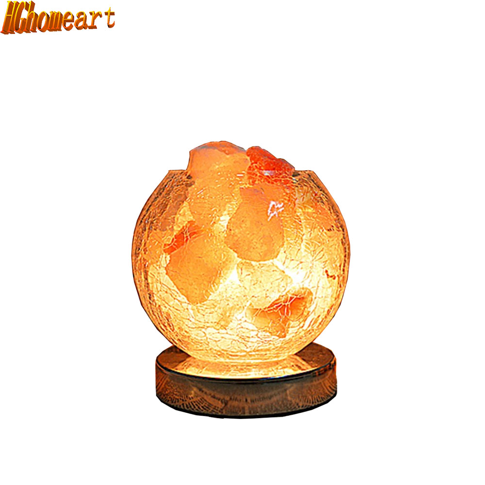 New genuine salt crystal lamp bedroom bedside lamp night light creative glass lamp fixtu Table Lamps oygroup mini hand carved natural crystal himalayan salt lamp night light cylinder shaped illumilite lamp salt light oy17nl02