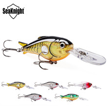 SeaKnight SK003 1PC Fishing Lure 1.8M-3.9M Floating 55mm 10g Artificial Crank Bait Hard Fishing Bait Lures Accessories