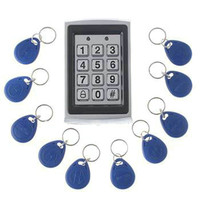 RFID Card Metal Case Keypad 125khz Proximity Card Entry Lock Door Access Control System Waterproof Wiegand Input