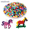 Abbyfrank 500G 5mm EVA Hama Perler Beads Mini Jigsaw 3D DIY Puzzle Multicolor Handmaking Fuse