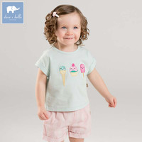 Dave Bella Toddler Girls Summer Print Clothing Children High Quality Clothes Baby Lovely Suit Kids Clothing