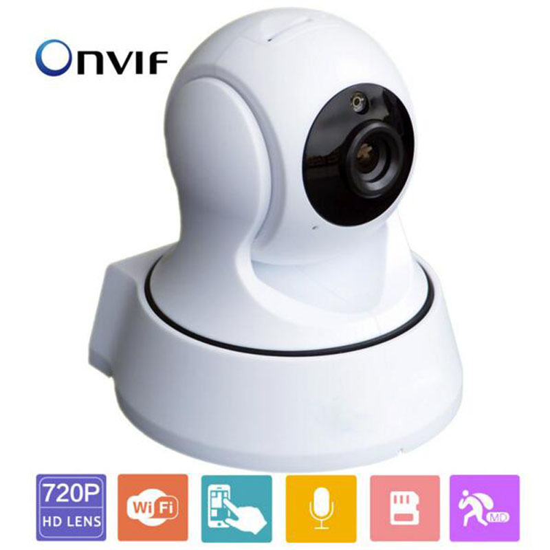 720P HD Wi-Fi IP Camera Onvif Pan/Tilt Security Cameras Baby Monitor suport Two-way Audio Night Vision Smartphone Remote Access wanscam hw0021 ccvt security surveillance hd 720p wifi ip camera motion detection pan tilt 2 way audio night vision baby monitor