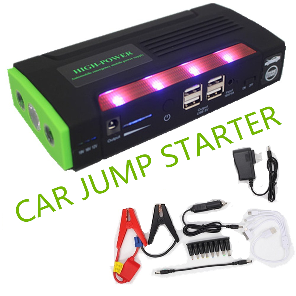 Voiture batterie externe voiture saut démarreur multi fonction batterie externe bateria batterie 12 V voiture chargeur auto démarrage booster