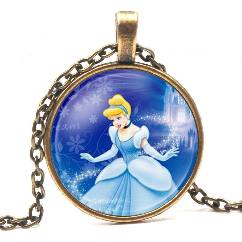 บุคลิกภาพแฟชั่นสุภาพสตรียาวสร้อยคอเครื่องประดับคริสตัลรอบเจ้าหญิง Elsa Anna Snow Queen จี้สร้อยคอ