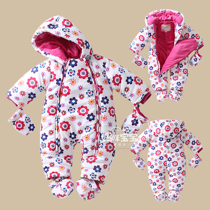 0-24M 2016 Baby girls winter romper Russia Winter Kids Clothing newborn toddler clothing Girls Jumpsuit High Quality Clothes