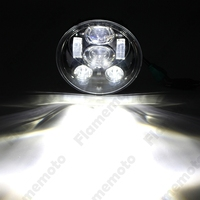Motorcycle Bike 5 3 4inch 45W Daymaker Projector LED Headlamp Light Hi Lo Beam For Harley