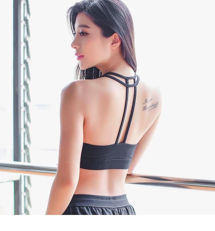Szexi sport melltartó nőknek Fitness Fitness mellény népszerű - Sportruházat és sportolási kiegészítők - Fénykép 5