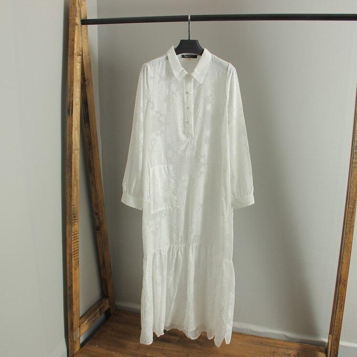 c01600c27 White Boho Long Beach Dress 2018 High Split Vintage Maxi Bohemian Dress  Sexy SeeThrough Long Sleeve Chiffon Dress -in Dresses from Women's Clothing  on ...