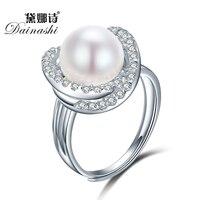 Fashion Cross Round Rings For Women 925 Sterling Silver Jewelry Zircon Imitation Diamond Jewelry Adjustable Rings