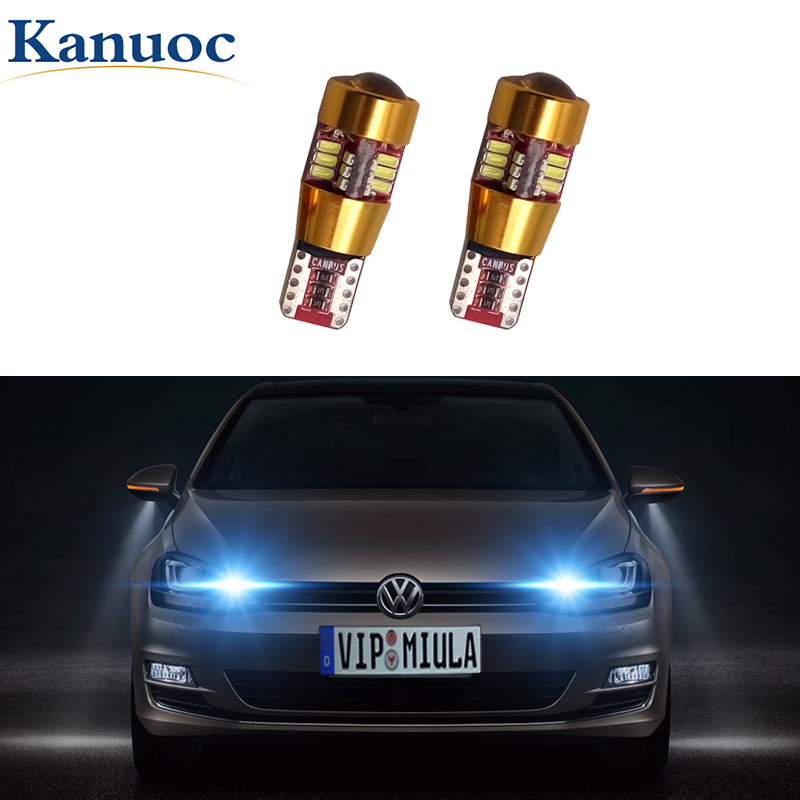 2x Canbus T10 194 168 W5W Car LED Bulbs Interior Lamp For VW Polo Golf 4 5 6 7 GTI Passat B5 B6 B7 Jetta MK5 MK6 Bora <font><b>CC</b></font> image
