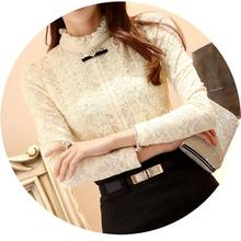 New 2016 Women Tops Women Clothing Fashion Blouses & Shirts Fleece Women Crochet Blouse Lace Shift